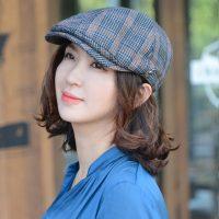 ★F/W 신상★잭스-2컬러 헌팅캡 클래식 체크 스포츠 럭셔리 아이코닉 모자