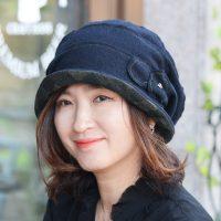 ★F/W 신상★펀치라인-네이비컬러 패턴 레이어드 캐주얼모자