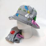 루이엘 <b><뷰티풀썬데이(BK)></b> 플로피햇 나들이모자 가벼운모자 여름모자 사계절모자 간절기모자 꽃무늬 스포츠 골프 여행