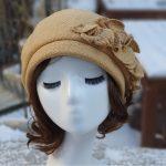 루이엘 <b><마음></b> 니트베레 니트모자 챙없는모자 여성모자 가을모자 겨울모자 외출용모자 심플한모자 선물용모자 (2color)