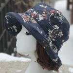 루이엘 <b><티티카카></b> 여성등산모 클로슈 겨울등산 겨울외출모 플라워프린트 꽃모자 꽃무늬모자 (4color)