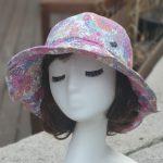 루이엘 <b><빨강머리앤></b> 와이드햇 버킷햇 간절기모자 선물용모자 아웃도어모자 등산모자 꽃모자 (3color) 상품 이미지