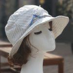 루이엘 <b><모던하트></b> 클로슈 등산모 스포츠 골프 외출용모자 여성캐주얼 린넨모자 심플한모자 (2color) 상품 이미지